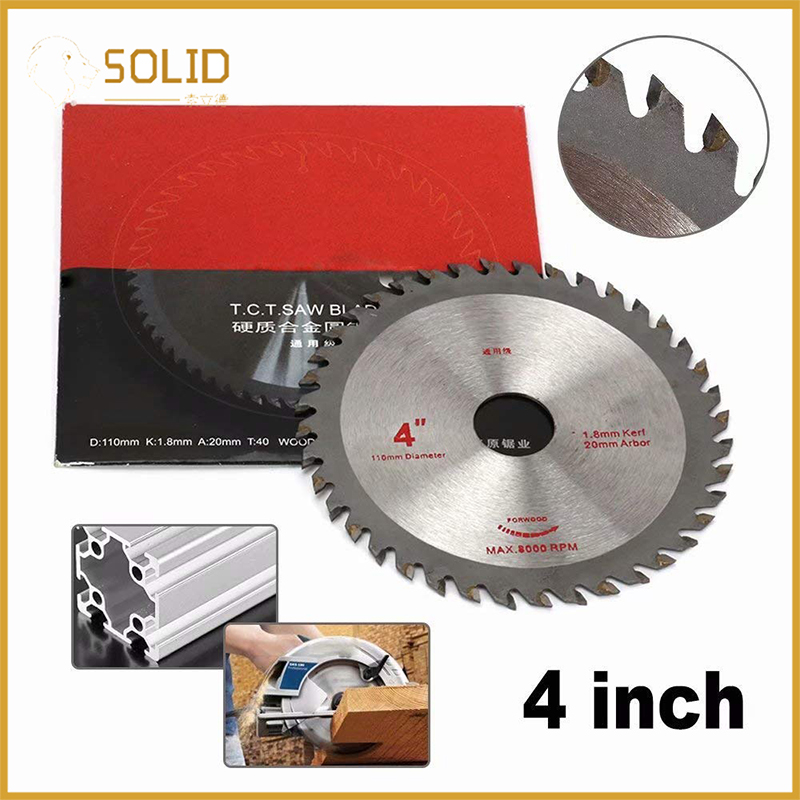 4 Inch Circular Saw Blade Carbide Tipped Cutting Disc For Cutting Hard Wood/Polywood And Non Ferrous Metals 30, 40T