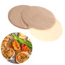 100 шт 9 дюймов пергаментная бумага термостойкая основной цвет антипригарная круглая бумага для торта бумага для выпечки для барбекю торта хлеба