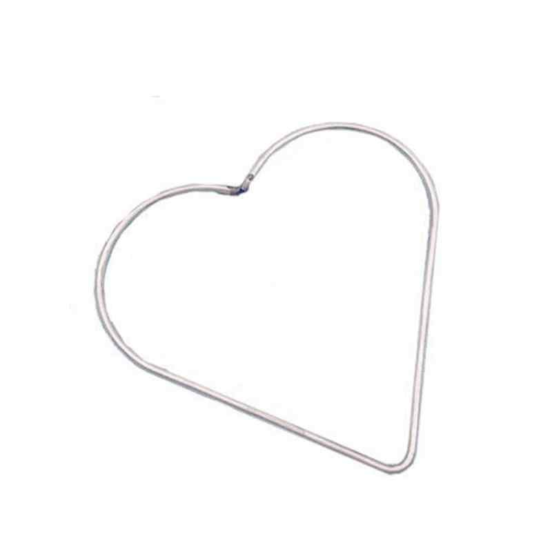 1 Pcs โลหะ Dream catcher หัวใจและเริ่มต้น Hoop แหวนสำหรับ DIY คู่มือ Handmade หวายงานฝีมือ Dreamcatcher วัสดุเครื่องมืออุปกรณ์เสริม