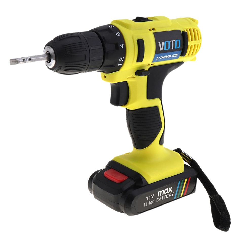 VOTO 21V Mini Cordless Electric Screwdriver Drill Power Tools With Rechargeable Lithium Battery And Two-Speed Adjustment ButtoVOTO 21V Mini Cordless Electric Screwdriver Drill Power Tools With Rechargeable Lithium Battery And Two-Speed Adjustment Butto