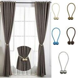 Hot Curtain Buckles 2019 Newest Magnetic Pearl Ball Curtain Tiebacks Backs Holdbacks Buckle Clips Curtain Decorative Accessories