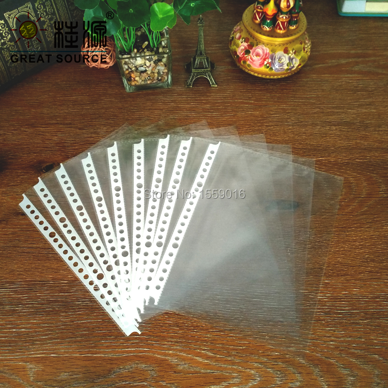 A5 Paper Presentation Bag 20 Holes Clear PP Bags W16.8*H21.5cm(6.614