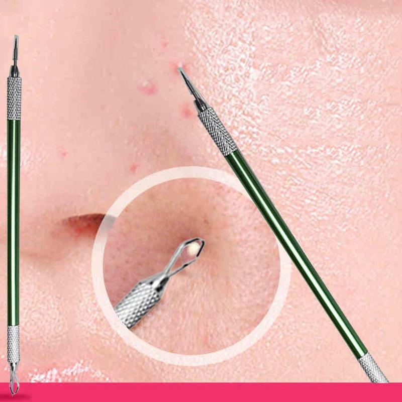 Acne Blackhead Remover Facial Pimple Acne Needle Stick Double-ended Stainless Steel Facial Cleaning Helper Tools