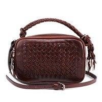 Вязание Для женщин Курьерские сумки мода для девочек женские маленькие сумки из натуральной кожи Для женщин квадратный сумка женская мини
