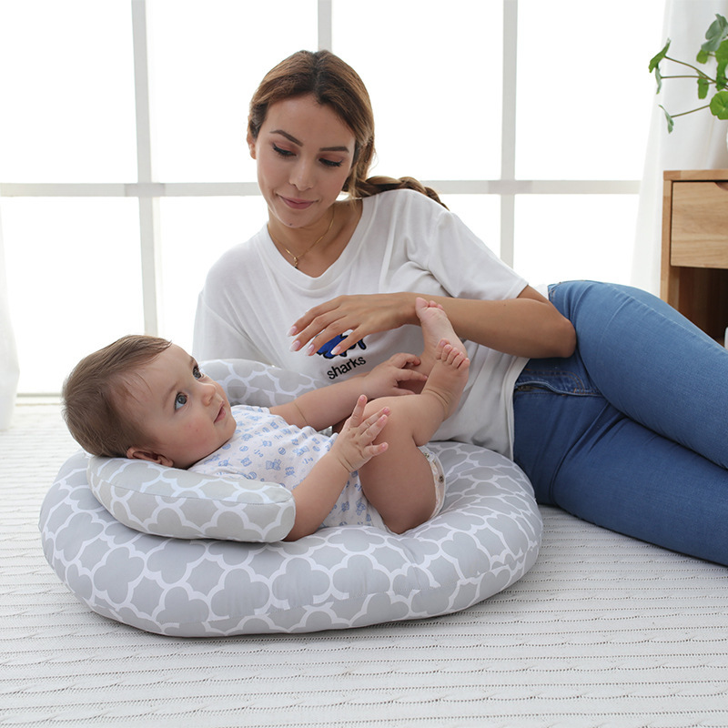 0 12 Months Gray Portable Baby Anti Roll Infant Sleep Prevent Flat Head Positioner Pillow Newborn Safe Sleeping Nursing Cushion in Pillow from Mother Kids
