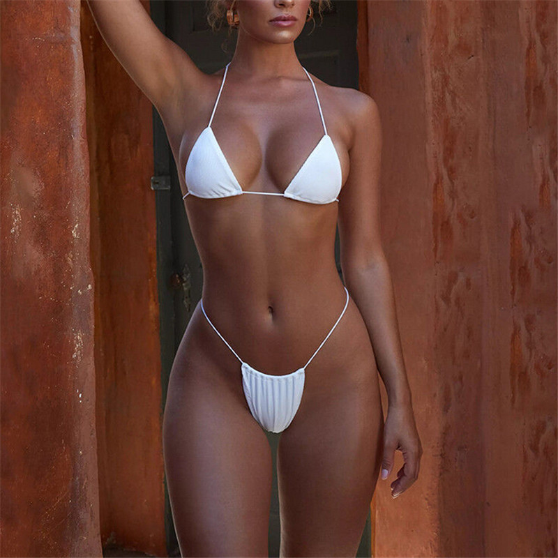 Swimming Pink Swimsuit Girls 2019 New Brazilian Unpadded Mini Bikini Set Women Sexy Biquini String Bikini Swimwear Bathing Suit #yl5 Sports & Entertainment