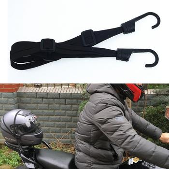 60CM kask motocyklowy paski akcesoria motocyklowe haki bagaż chowany elastyczny sznur pasek mocujący Motos kask siatka bagażowa tanie i dobre opinie Nylon Motorcycle Straps