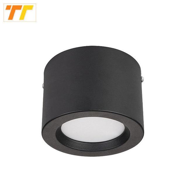 עגול צמודי LED Downlights 5 W 7 W 9 W 12 W רכוב תקרת מנורות ספוט אור 220 V 110 V למטה אור שחור/לבן גוף
