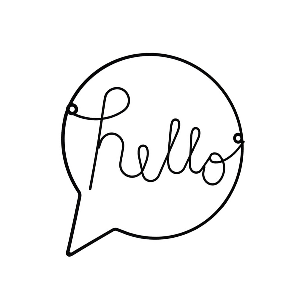 Nordic Style Iron Hello letters wall sticker for kid Room Hanging Decorations Hallway Sign Welcome Sign Wall Art Wall Hanging dřevěné dekorace do dětského pokoje