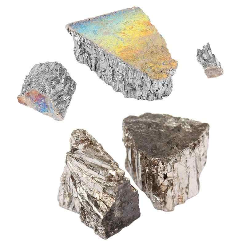 High Pure Bismuth Irregular Shape Purity 99.99% Bismuth Bi Metal Lumps Ingot Industry Material Machine Accessories 100/1000g