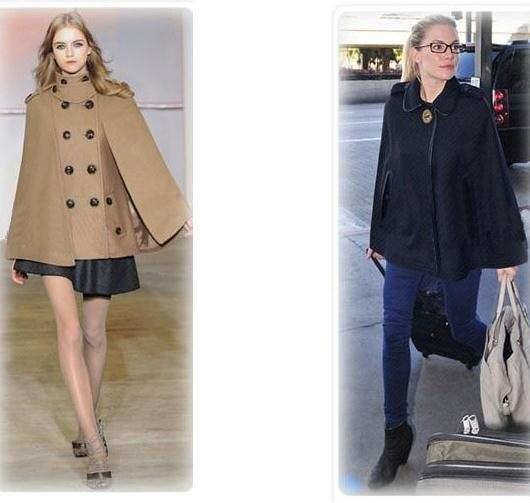 Женское двубортное пальто с рукавами летучая мышь, шерстяное пончо, плащ, верхняя одежда