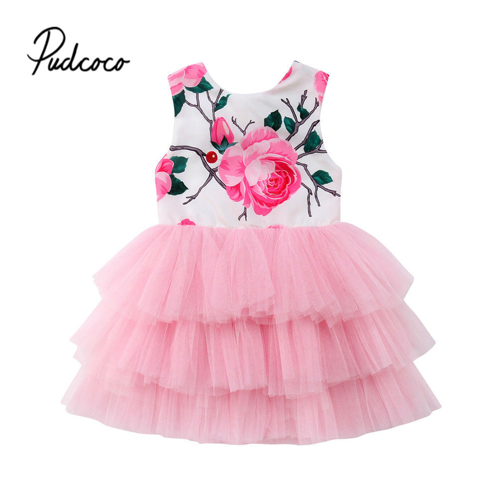 Flower     Girl     Dress   0-5Years Baby Princess   Dresses   for Kids   Girls   Wedding Teens Party Vestidos Infantis Kid   Girls   Floral Clothes