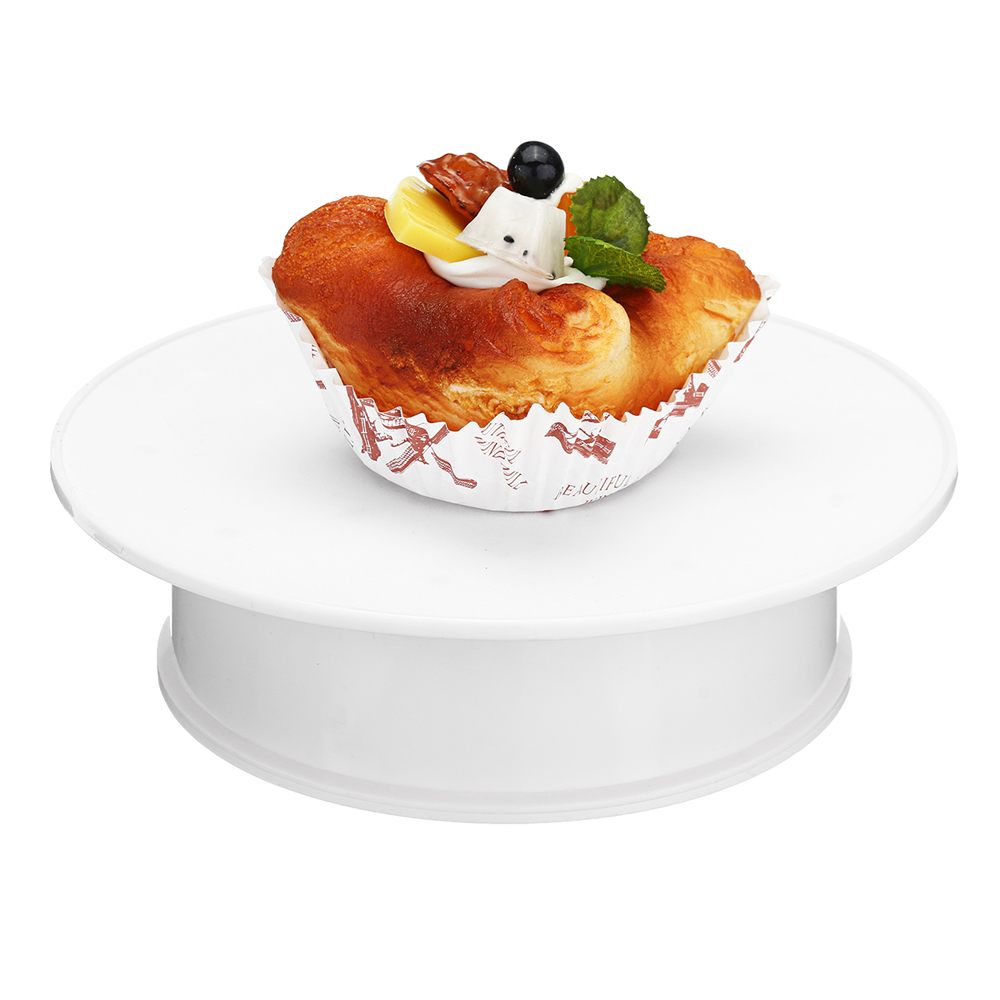 Rotating Display Stand Shelf For Cake Round White Velvet Coping Electric Motorized 360 Degree Rotating Display Stand Turntable