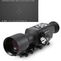 Ночное видение прицел охота Nightshot Монокуляр Дальномер баллистический компьютер Сфера 1080 P видео фото Wi Fi gps
