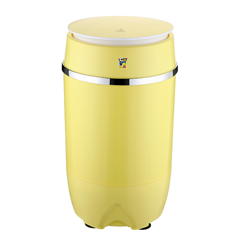 Portable Washing Machine Single-barrel Baby Fully-automatic Wheel Home Small Mini Washing Machine Yellow Mini Barril