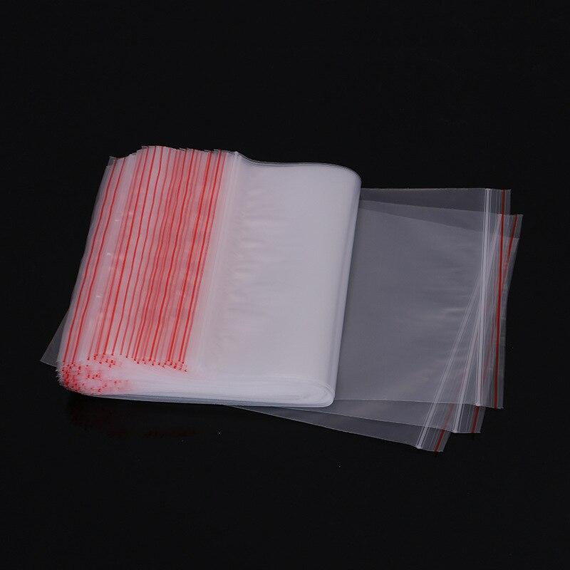 100 шт./лот, 9 Размер, прозрачные пластиковые полиэтиленовые пакеты, Герметичная сумка на молнии, сумка для хранения мелочей