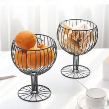 Wijn Glas Smeedijzeren Snack Opbergvak Dessert Fruitmand Thuis Decor Iron Snacks Fruitschaal