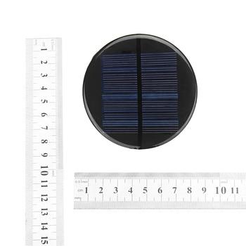 CLAITE Solar Power 6V 2W 0.35A 80MM DIY Mini Polycrystalline Silicon Solar Cell Module Circle Round Solar Panel Epoxy Board 6