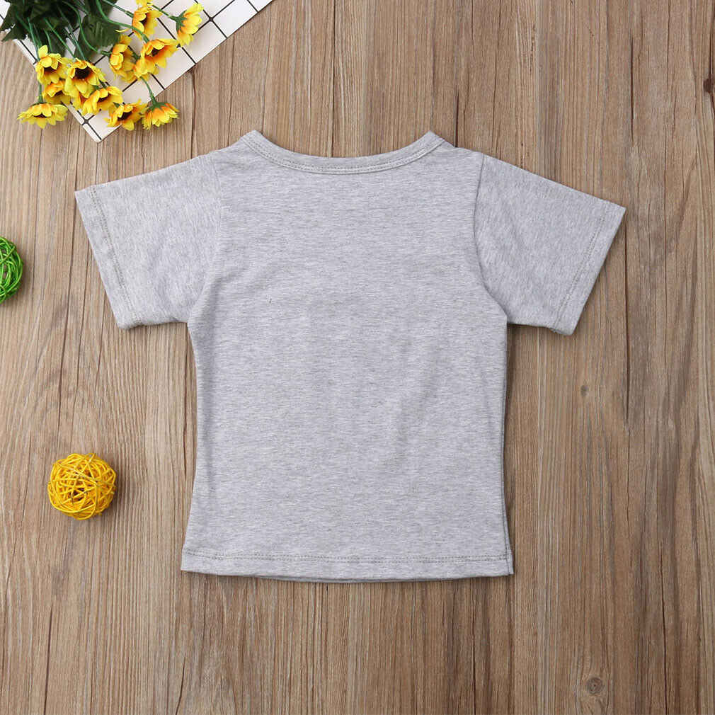 2019 ブランド新いとこマッチング服ビッグ Tシャツリトルロンパース幼児ベビーキッズボーイズ少女ジャンプスーツボディスーツ綿衣装セット