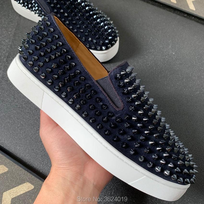Fundo Band Do Cl De Cut New 2019 Sapatos Couro Low Andgz Homens Calçado Para Moda Mocassins Picos Planas Elastic Vermelho Tinta azul Sneakers qw47F