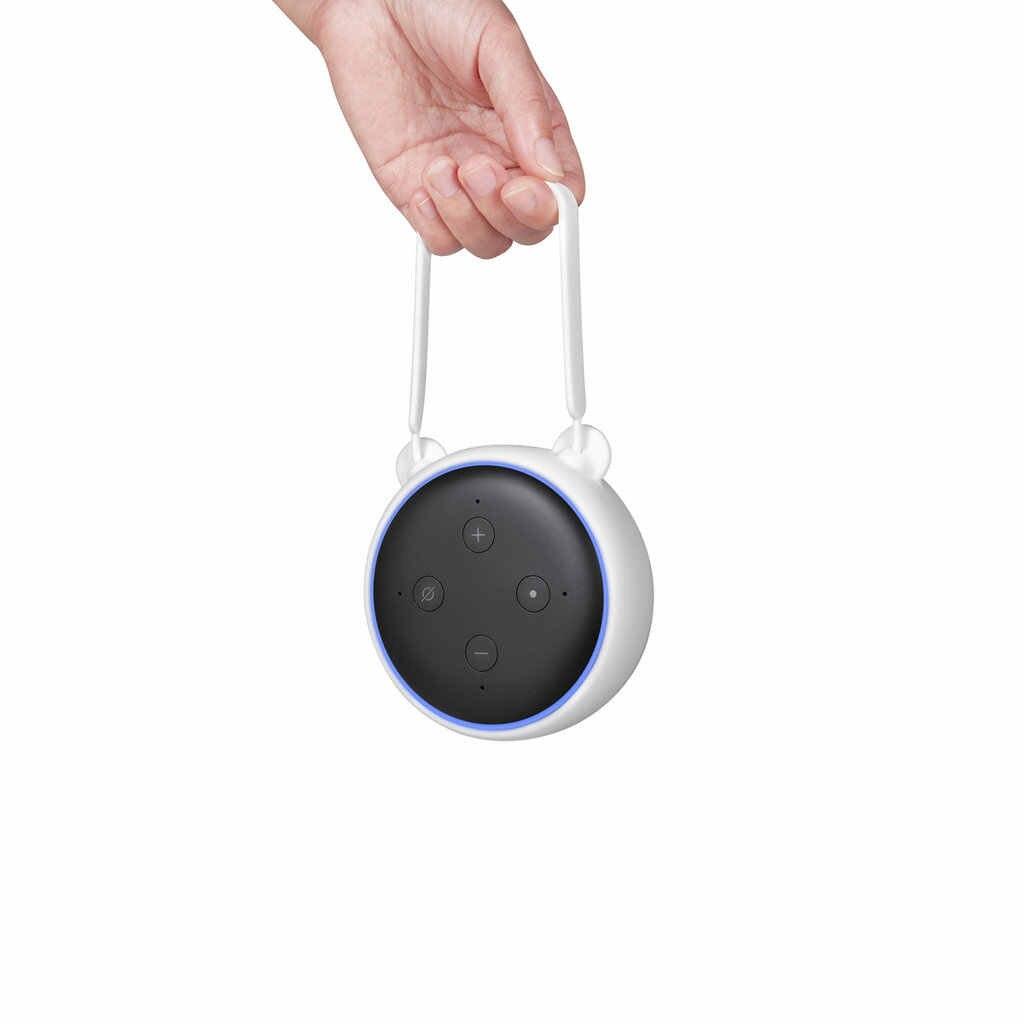 Ổ Cắm Gắn Tường Móc Treo Giá Đỡ Đứng Cho Amazon Alexa Echo Dot 3Nd Thế Hệ Tiết Kiệm Không Gian Đứng Chân Đế Trợ Lý Accessori