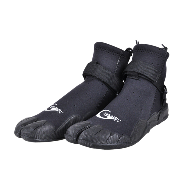 Yon Sub Man Woman Neoprene Diving Boots Anti-slip Quick-drying Surf Shoes Snorkeling Wading Water Skin Shoes Black