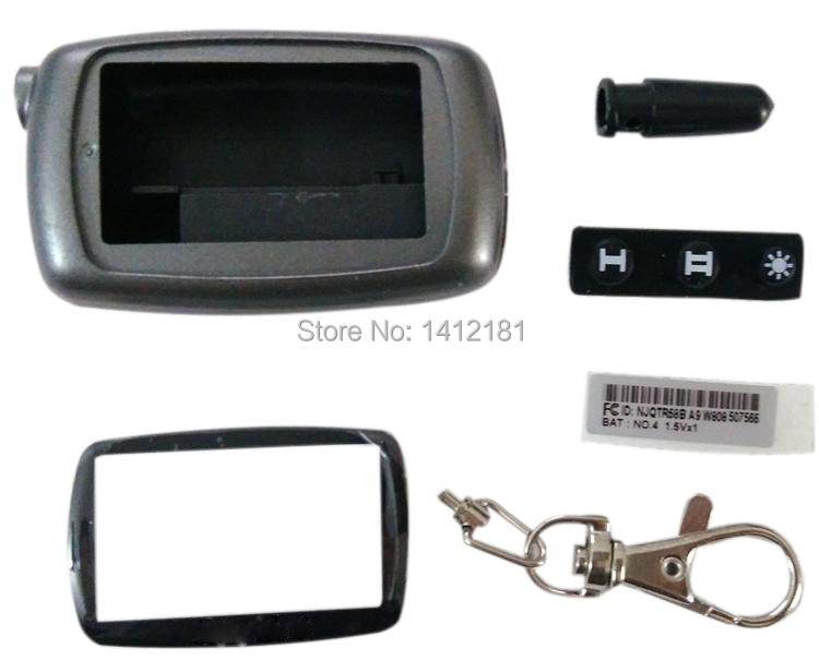 Wholesale A9 Keychain Case For Two Way Car Alarm System Twage Starline A9 A6 A8 A4 LCD Remote Control Key Fob Chain