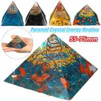 55-75mm Natural Quartz Crystal Pyramid Feng Shui Stone Chakra Ornament Healing Crystal Home Degaussing Mineral Stone Decor New