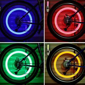 Tire-Valve-Cap Cover-Wheel Flash-Light Neon-Lamp Bicycle Mountain-Road-Bike 2PCS LED