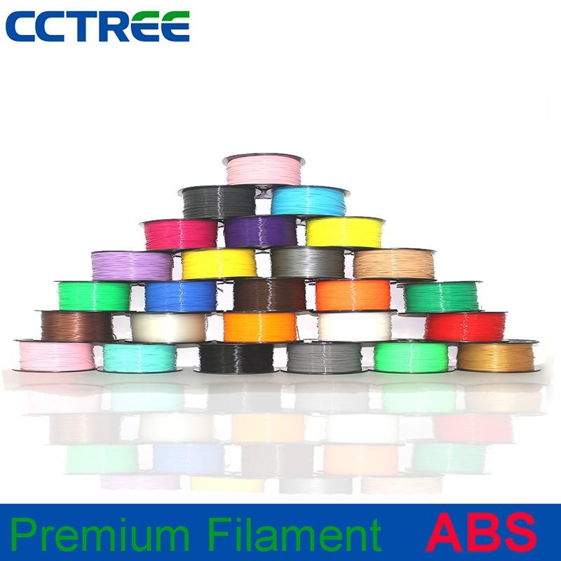 3d принтер красочный 1 кг/рулон мм 1,75 мм нить точность измерения мм +/-0,03 мм ABS нить для экструдера Ручка 3D печать материал