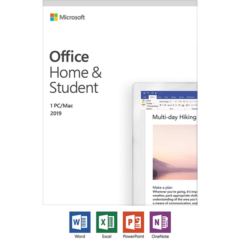 Image 4 - Microsoft Office Home and Student 2019 | 1 device, Windows 10 PC/Mac Product Key Card