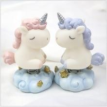 Unicorn Cart-Pendulum Ins Cartoon Process Gift Vinyl Spring Car Baking Cake Decoration Ornaments