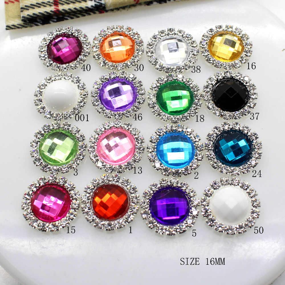Распродажа ZMASEY 10 шт./лот 16 мм стразы на кнопках алмазная пуговица из акрила
