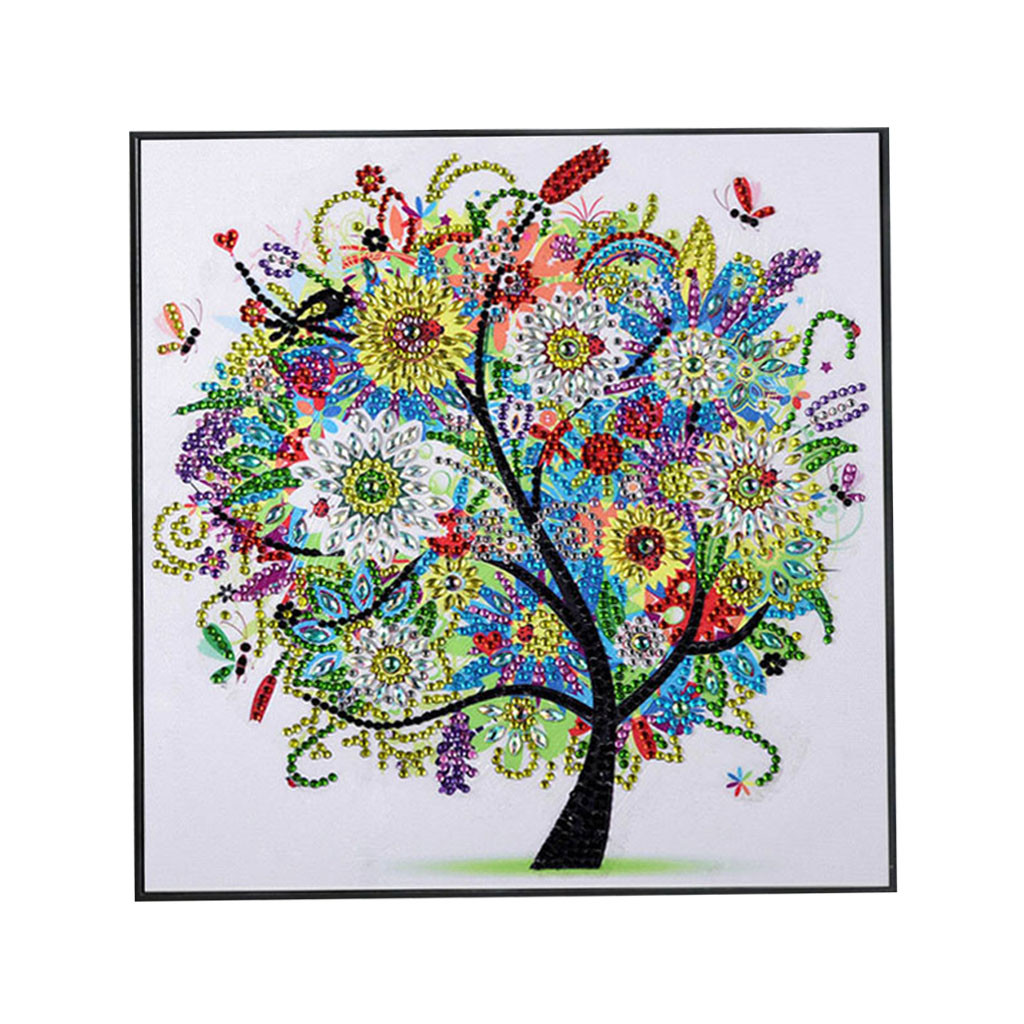 Hot Sale Diamond Embroidery Winter Flower Tree Special Shaped Diamond Painting Needlework Rhinestone 5D Drill Diy Mosaic Cryst