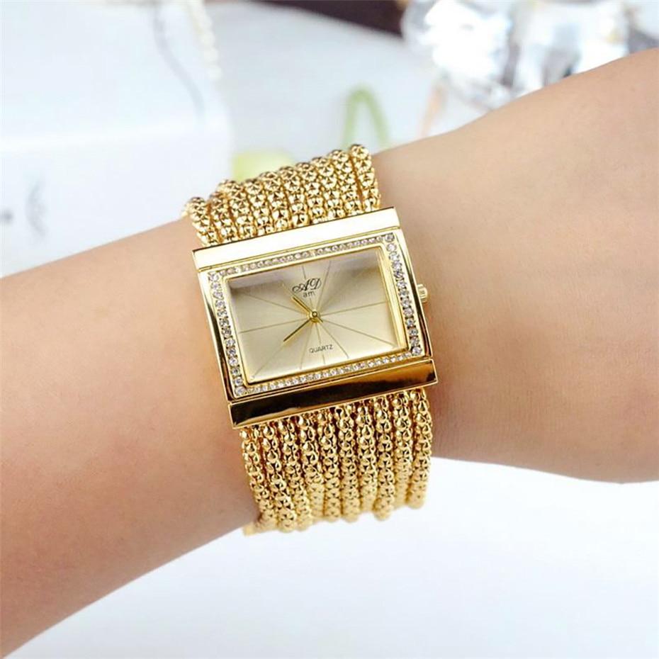 Elegant Womens Watches Quartz Tassel Steel Watch Band Creative Rectangle Lady Wristwatches reloj para mujer New Arrival 2019 5
