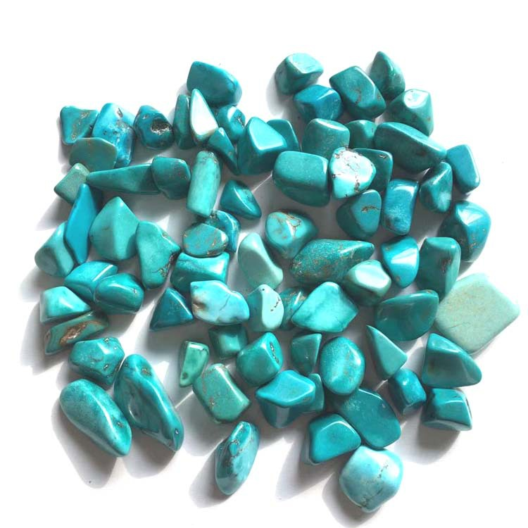 100g turquoise gravel degaussing fish tank home decoration accompanying 9 12MM turquoise in Stones from Home Garden