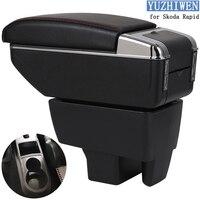 For Skoda Rapid Armrest Box Skoda Rapid 1 Universal Car Central Armrest Storage Box cup holder ashtray modification accessories
