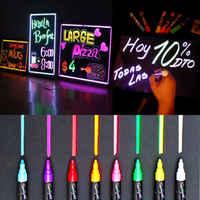 8 stücke 6MM Leuchtstoff Highlighter Nass Flüssigkeit Kreide Neon Marker Stift Trockenen Epochen Textmarker