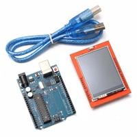 2,4 дюймов TFT ЖК-дисплей сенсорный экран-Экран UNO-R3 ATmega328P Доска модуль для Arduino 240x320 быстрая передача USB 32 k флэш-память