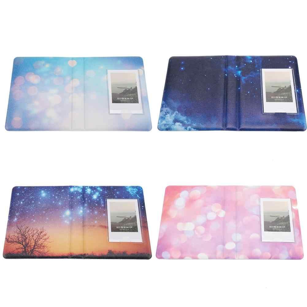 64 Pockets 3in Mini Photo Album for Fujifilm7s/8/25/50s/90 Picture Case Storage Mini Instant Picture Case Storage