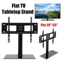 Metal Tabletop TV Stand Base Vesa Pedestal TV Mount Rack for Flat LCD LED 26'' 55'' Television Accessories Parts Universal