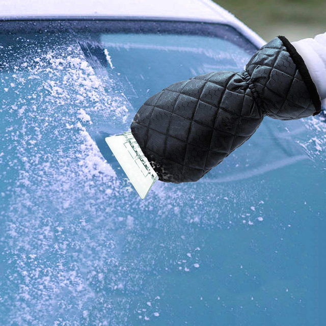 Warm Ice Scraper Glove Eco-friendly Outdoor Winter Car Waterproof Windshield Soft