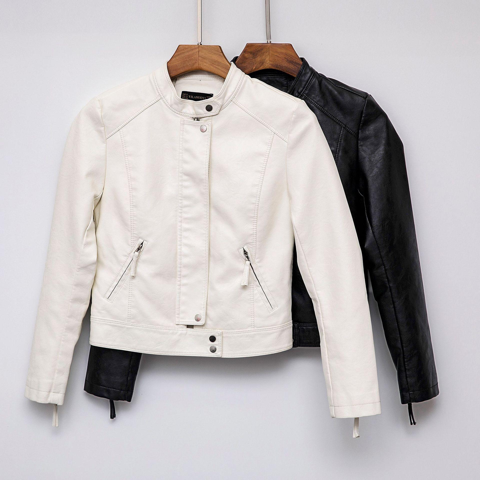 2019 Spring New Short Faux Soft   Leather   Jacket Women Fashion Zipper Motorcycle PU   Leather   Jacket Ladies Basic Street Coat