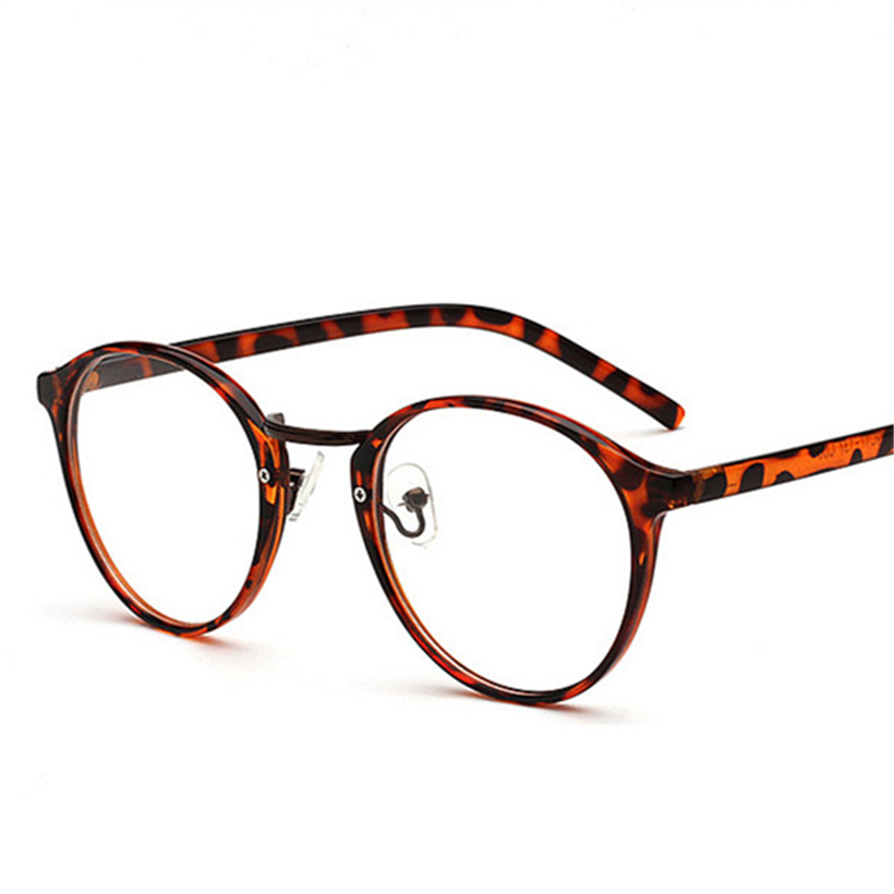 Women Optical Round Glasses Frame Retro Clear Lens Fake Glasses Myopia Computer Eyeglasses Frames  Men's Optical Frames