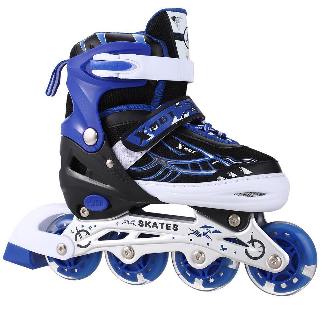 Nouveau professionnel 4 roues en ligne saktes enfants adultes patinage chaussures de sport de plein air chaussures de patin à roulettes pour les enfants