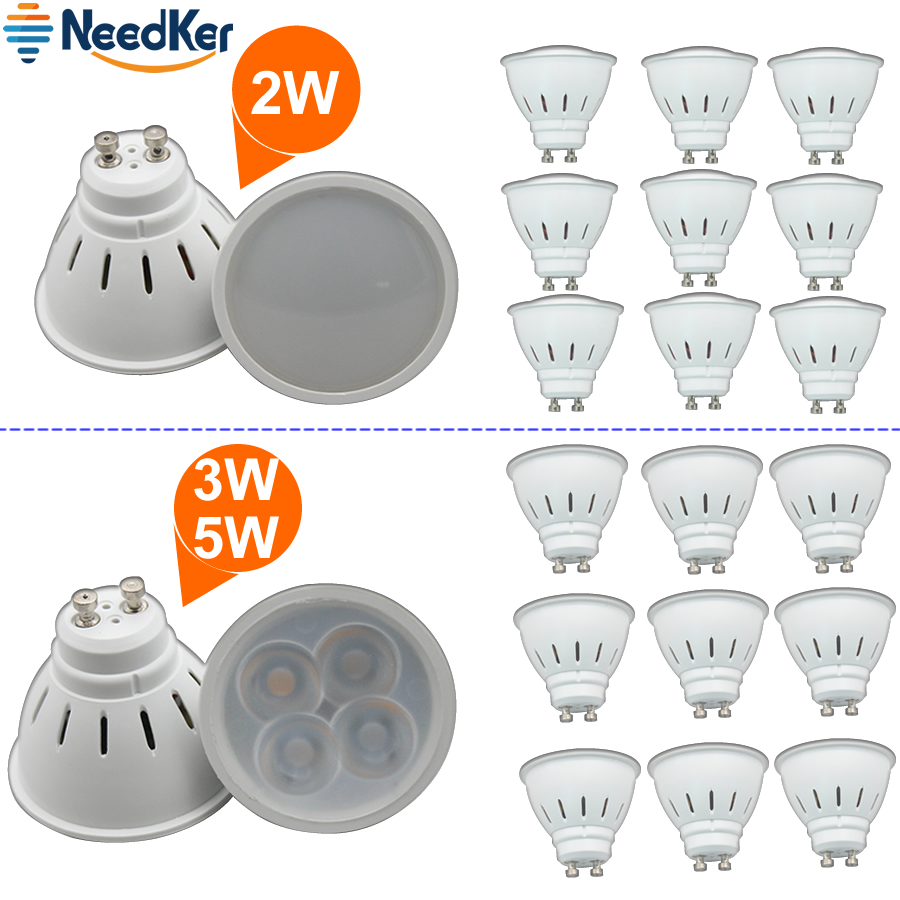 NeedKer LED Lamp GU10 G5.3 LED Bulb 2W 3W 5W 9W 12W 15W AC 110V 220V Lampada LED Condenser Light Cob Spotlight  Energy Saving