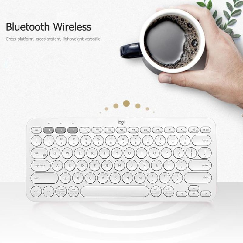 Logitech K380 Wireless Bluetooth Keyboards Portable Multi-Device Mini Keyboard For Laptop IPhone Pad Computer Peripherals Parts