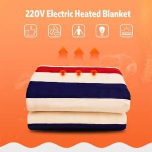 Image 3 - 150 × 180センチメートル220 12v自動電気加熱サーモスタットスローブランケットダブルボディウォーマーベッドマットレス電気加熱されたカーペットマット