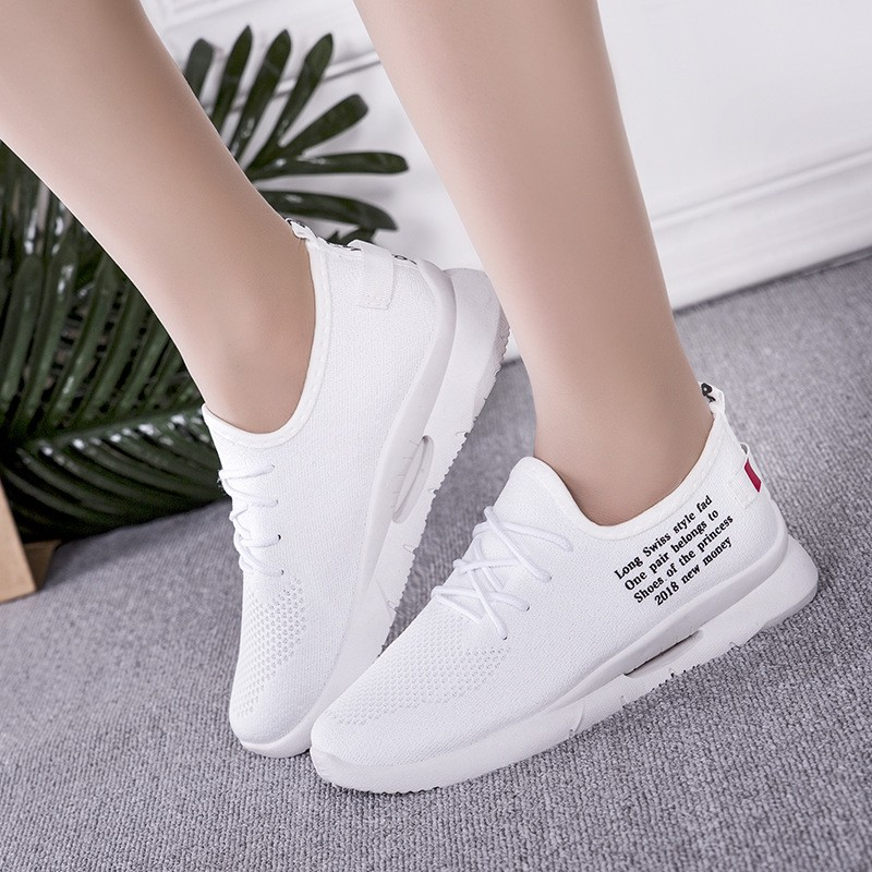 Fashion Summer Sneakers White Mesh Casual Shoes Women Breathable Flying Woven Sneakers Non-slip Light Running Woman Shoe women shoes sneakers 2018 fashion mesh breathable non slip lightweight female shoe woman tenis feminino