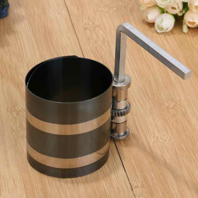 4 inch 53-175mm Steel Car Engine Piston Ring Compressor Tool Installer 2019 New Band Ratcheting with L Socket Head Allen Wrench